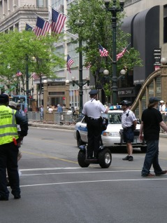 Chicago cops travel in style