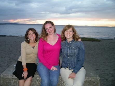 Rose, me, Jenny at Alki