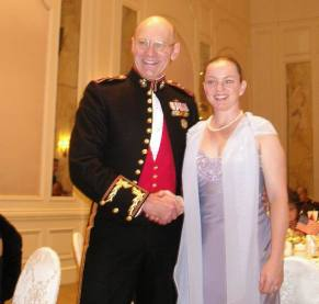 Charlie with Major General Thiessen