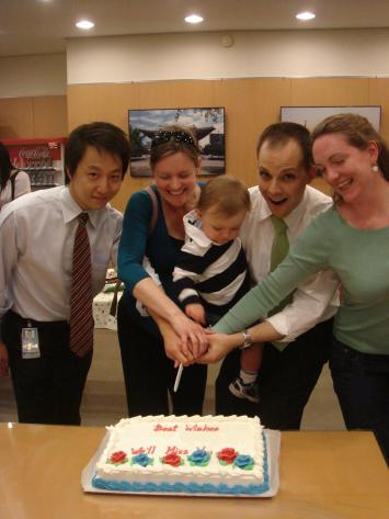 Farewell party - cake cutting